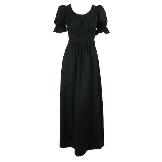 Radley Maxi Dress 1970's Black Vintage