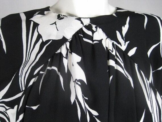 1980's Dress Graphic Floral Vintage - image 3