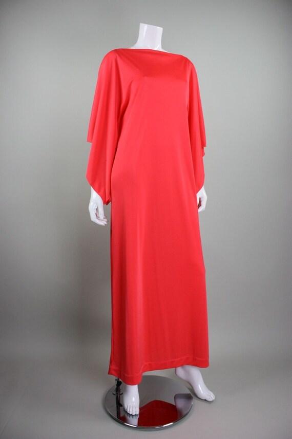 1970's Caftan Lucie Ann Jersey Loungewear Vintage - image 3