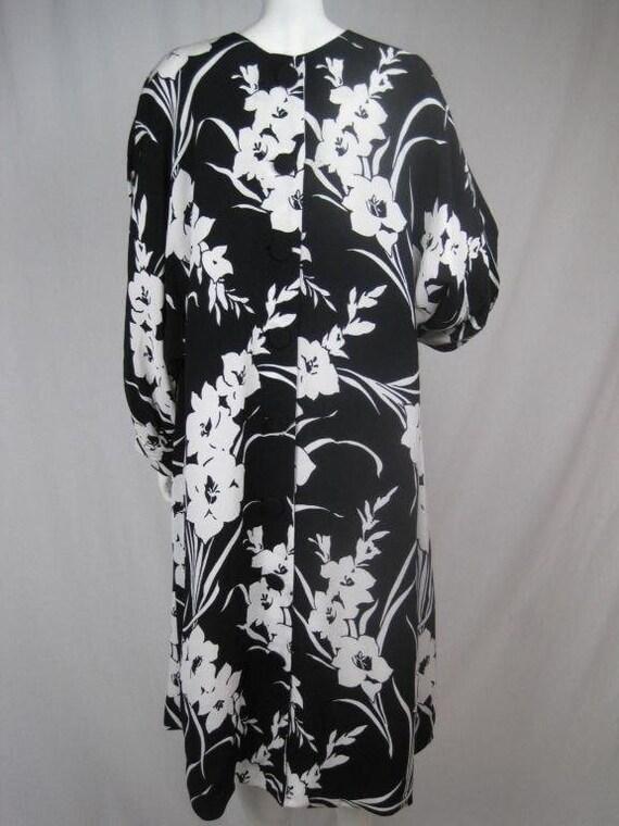 1980's Dress Graphic Floral Vintage - image 6