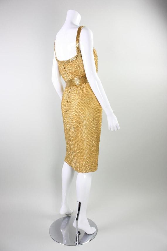 Ceil Chapman Party Dress 1950's Beaded Vintage - image 5