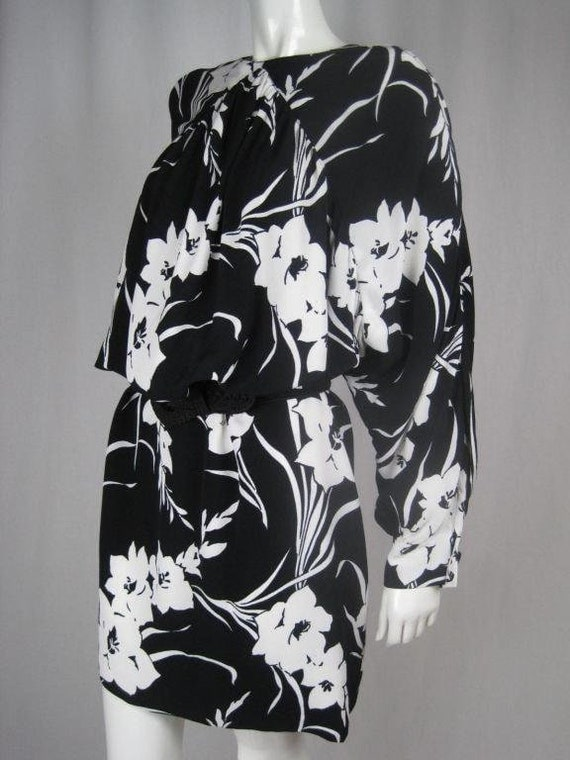 1980's Dress Graphic Floral Vintage - image 8