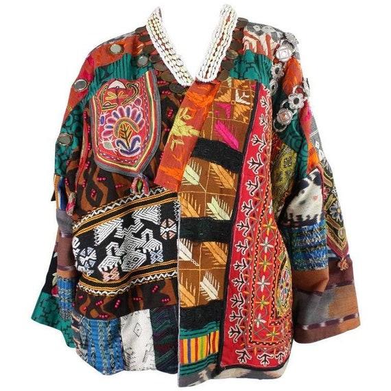 1980's Jacket Laise Adzer Patchwork Vintage
