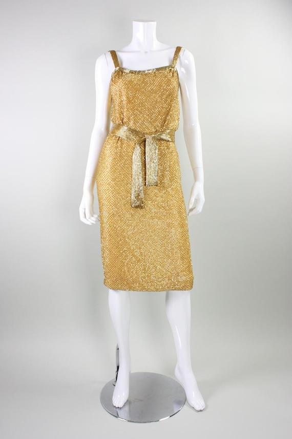 Ceil Chapman Party Dress 1950's Beaded Vintage - image 3