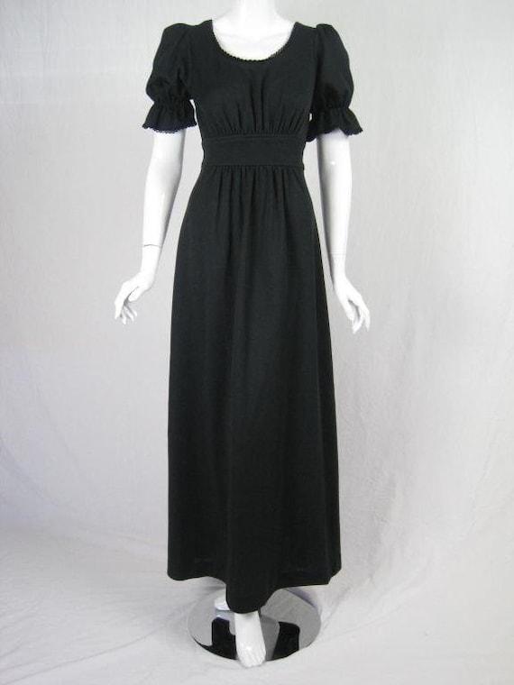 Radley Maxi Dress 1970's Black Vintage - image 2