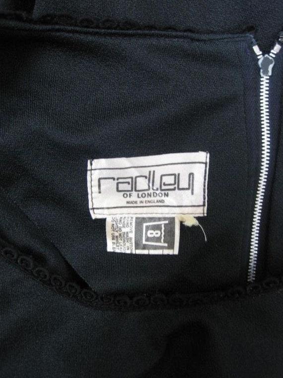 Radley Maxi Dress 1970's Black Vintage - image 7