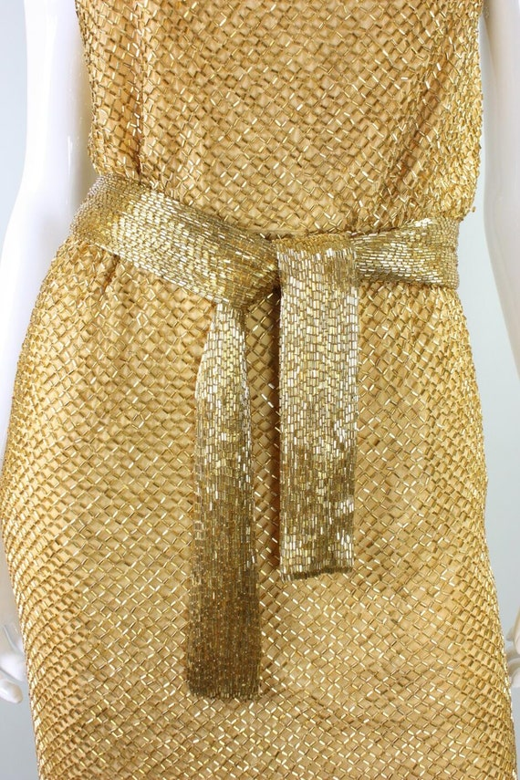 Ceil Chapman Party Dress 1950's Beaded Vintage - image 8