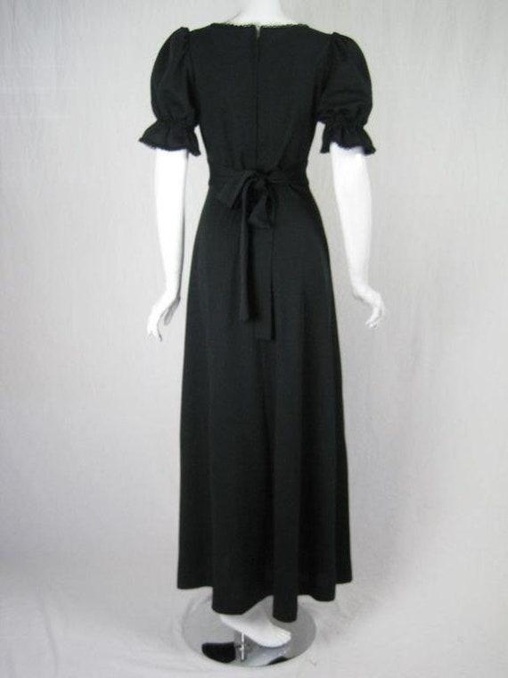 Radley Maxi Dress 1970's Black Vintage - image 4