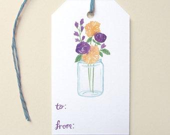 Cute Gift Tags, Mason Jar Gift Tags, Southern Gift Tags, Floral Gift Tags, Birthday Gift Tags, Everyday Gift Tags, Cute Tags with Twine, Tag