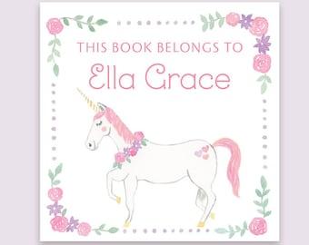 Unicorn Bookplate Sticker - Kid's Bookplate Sticker, Children's Bookplate, Unicorn Gift, Unicorn Sticker, Unicorn Bookplate, Unicorn Lover