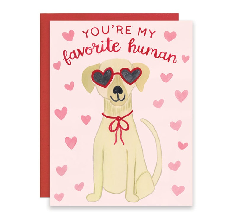 Dog Valentine's Card You're My Favorite Human Card image 0