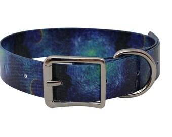 Waterproof Dog Collar Van Gogh Cypress & Stars
