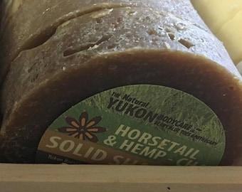 Solid Shampoo Bar / Horsetail and Hemp / Chai / Yukon Soap