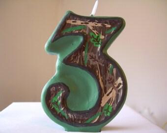 Camo/Hunting birthday candle