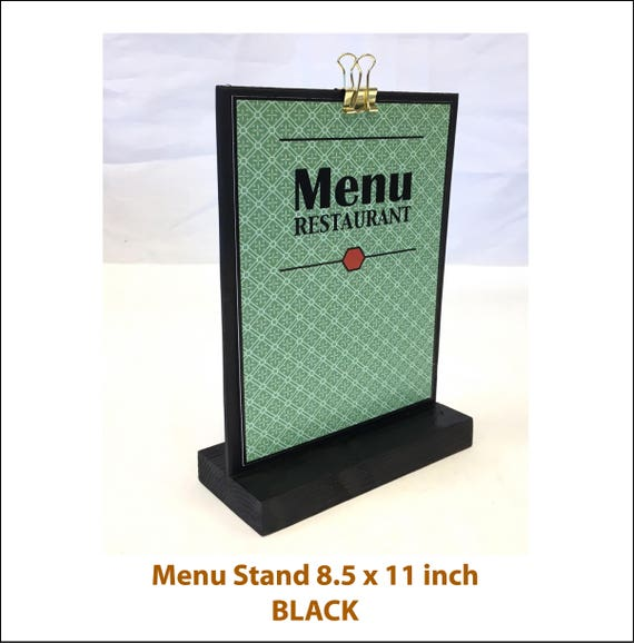 Menu Stand Sign Holder Tabletop Sign Holder Large Sign Etsy - Restaurant table top sign holders