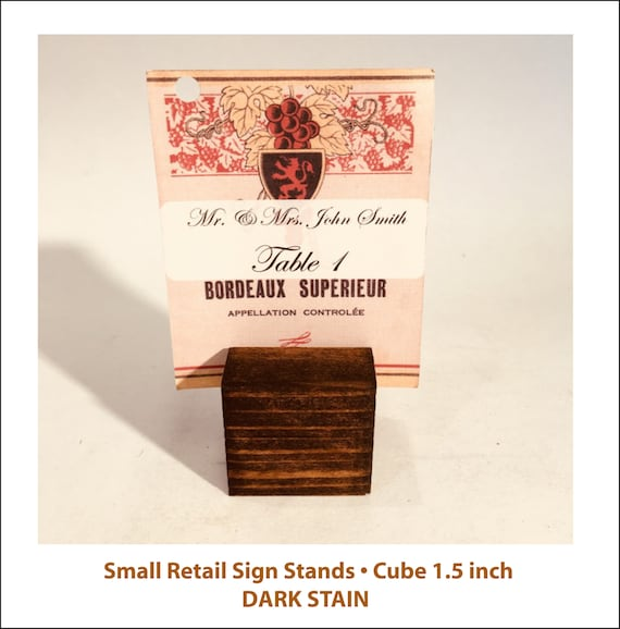 Sign Stand Price Tag Stand A40 A40 Small Sign Holder Etsy New Tea Set Display Stand For Sale