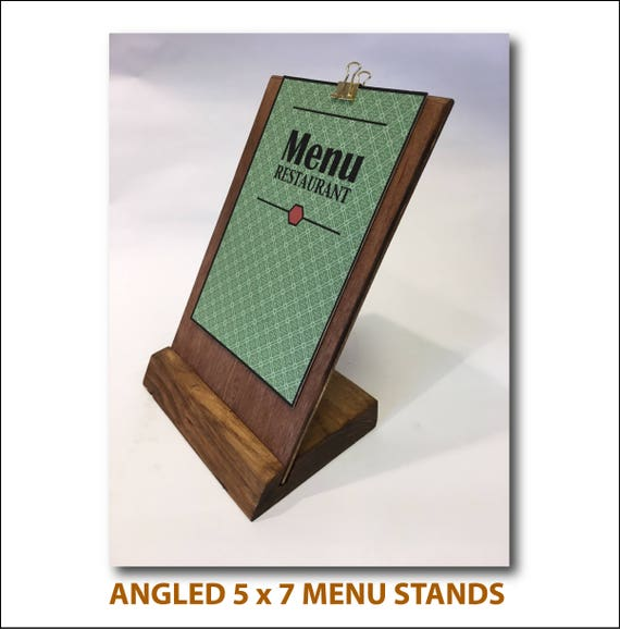 Display Sign Stand Universal Sign Holder Restaurant Etsy - Restaurant table top sign holders