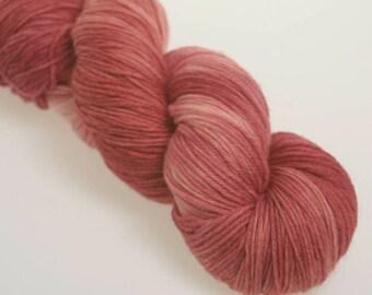 Australis 4-ply,  Hand Dyed Yarn, 4 ply, Yarn, Hand dyed, Superwash Merino, GARNET
