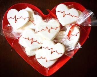 Heart beat cookies