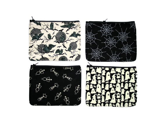 SALE! zipper pouch, cosmetic bag, change purse, Halloween, vinyl