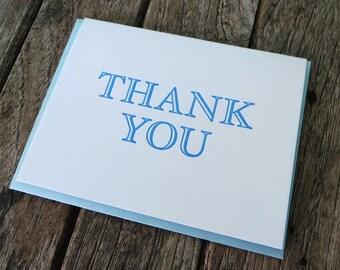 Letterpress Thank You Card