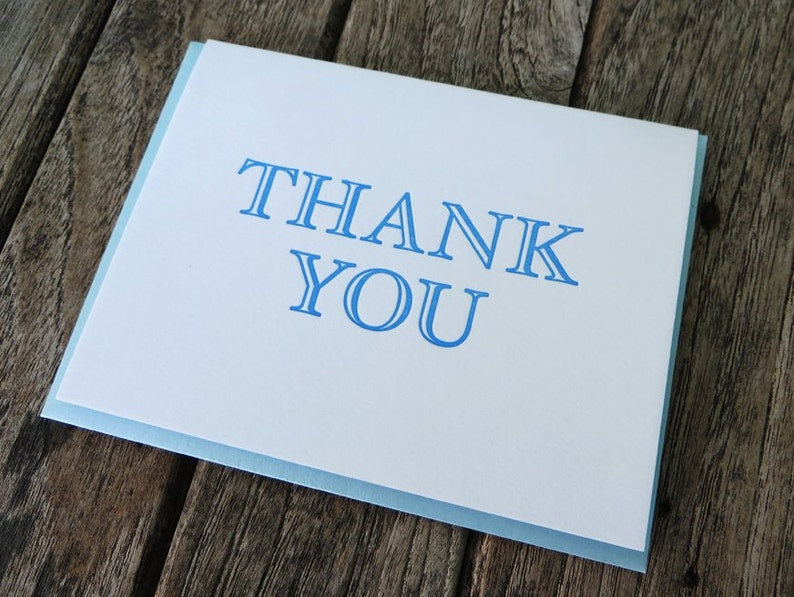 Letterpress Thank You Card image 0