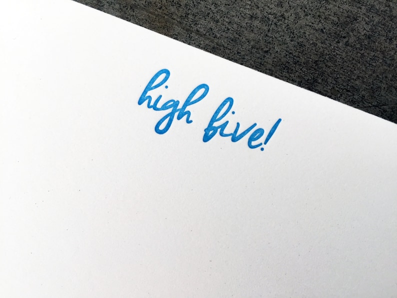 High Five Letterpress Notecard image 0