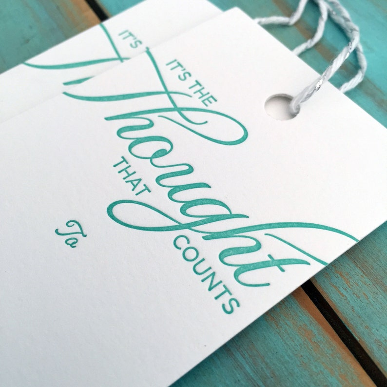 It's the Thought that Counts Letterpress Premium Gift Tags image 0
