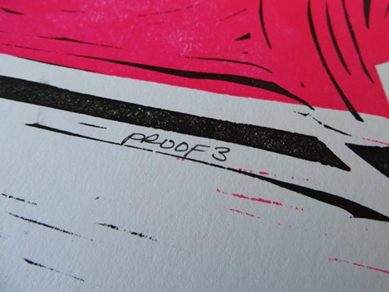 ARTISTS PROOF 3  Dia De Los Muertos Wood Cut Print image 0