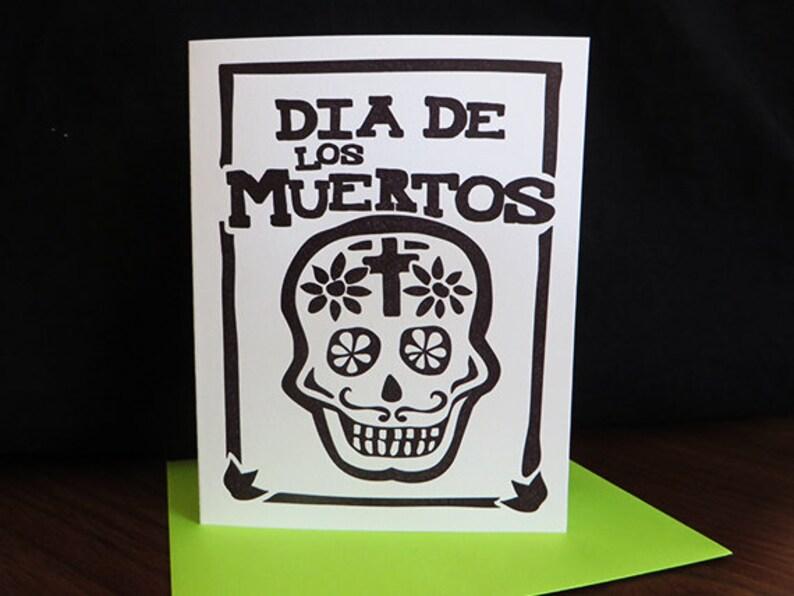 Dia de los Muertos Letterpress Card image 0