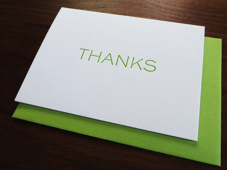 Thanks Letterpress Card image 0