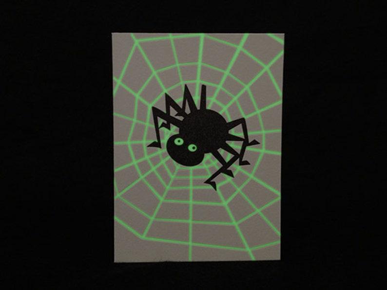 Glow in the Dark Spider Halloween Letterpress Card image 0