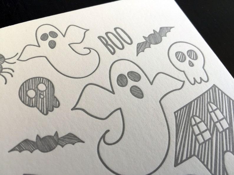 Hand Drawn Halloween Letterpress Card image 0