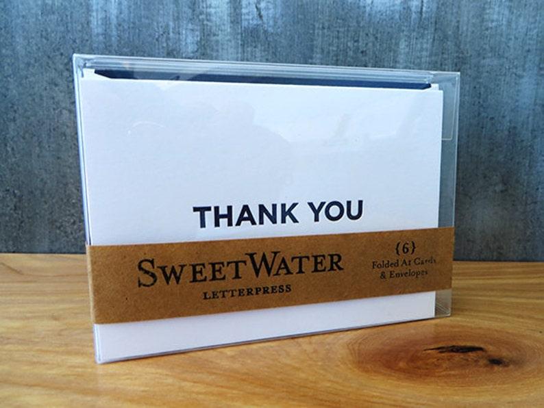 Thank You Folded Letterpress Card Set of 6 image 0