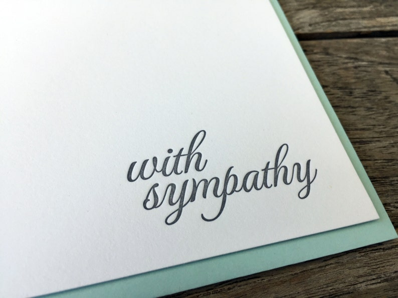 With Sympathy Letterpress Card image 0