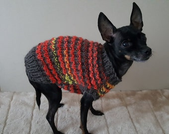 a8f19c56e6a5 Hand Knit Dog Sweater -Small Dog Sweater-Chihuahua sweater-Pet Sweater-Dog  Costume Multiple sizes