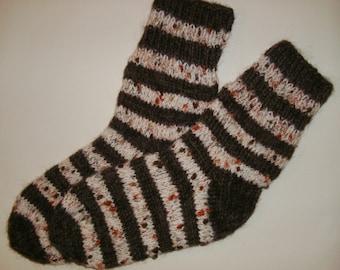 Tejido a mano lana calcetines - calcetines de colores para las mujeres - tamaño grande-US W10-10.5, EU42