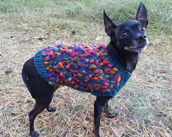 Small Dog Sweater -Hand Knitted Sweater for Dogs-Chihuahua sweater-Pet Sweater-Dog Costume-Size S