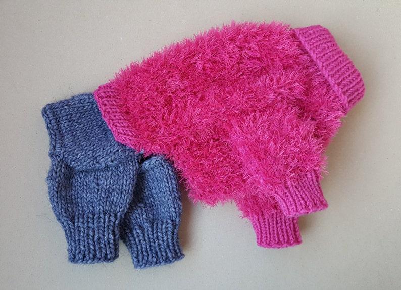 Knitted Dog Sweater-Dog Coat-Dog Costume-Small Dog Clothes-Dog Fashion Dog Jumpsuit Dog Sweater Size S