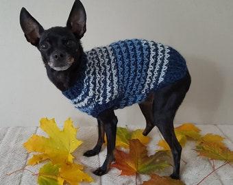 Hand Knit Dog Sweater -Small Dog Sweater-Chihuahua sweater-Pet Sweater-Dog Costume Multiple sizes