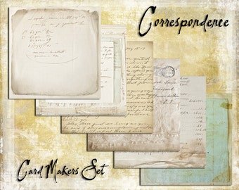 Digital Paper Pack The Correspondence Cardmakers Set downloadable printables