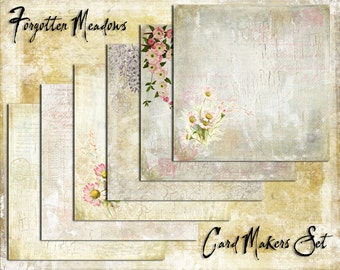 Digital Paper Pack Forgotten Meadows Cardmaker Set downloadable printables