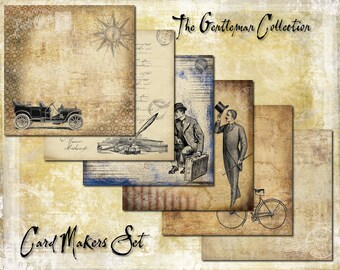 Digital Paper Pack The Gentleman Collection Cardmaker Set downloadable printables