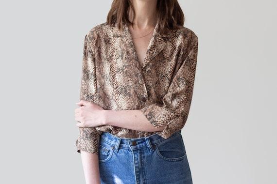 Vintage Snake Print Shirt