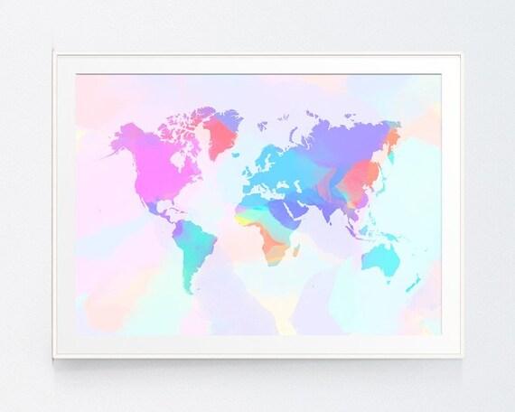 World map poster art print bedding clipart decor digital gumiabroncs Gallery