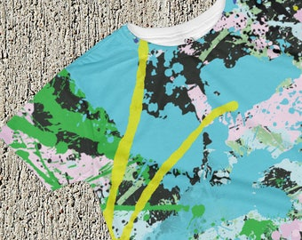 SPLAT! Turquoise all-over print kids T-shirt