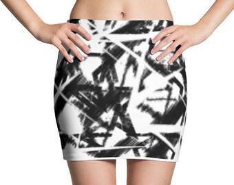 STAR PIXEL Mini Skirt
