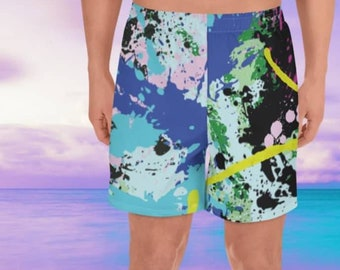 09ef598c93 Paint splat turquoise Board Shorts. Great for Swim or Surf. Colourful art  print