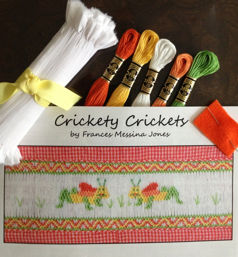 Smocking Kit Crickety Crickets by Frances Messina Jones
