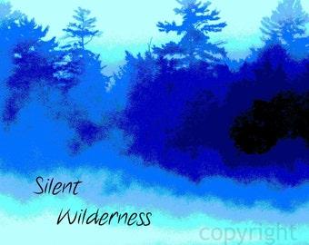 "Quote Photo Art Print ""Silent wilderness"" Lake Forest Kayak Original Photo Art"